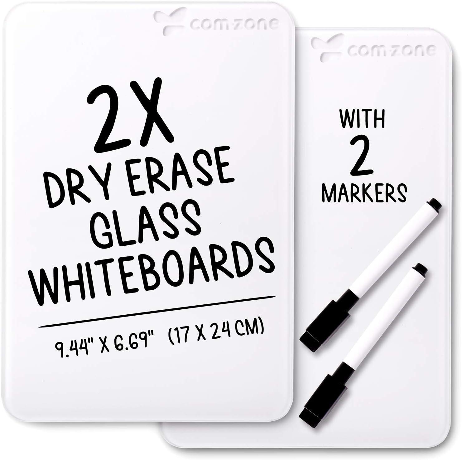 Dry Erase Glass Desktop Notepad, 9.44