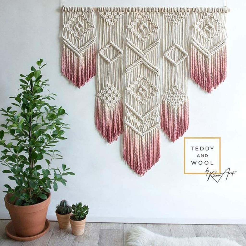 Macrame Wall Max Large special price !! 40% OFF Hanging Boho Chic Nordic Dye Gradient Tapestry Han
