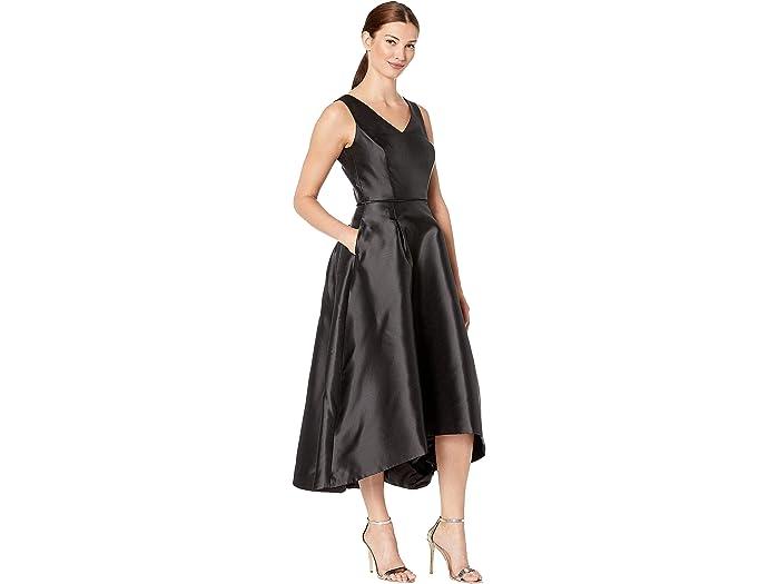 Tahari By Asl Sleeveless Mikado High-low W/ V-neckline - Women Clothing