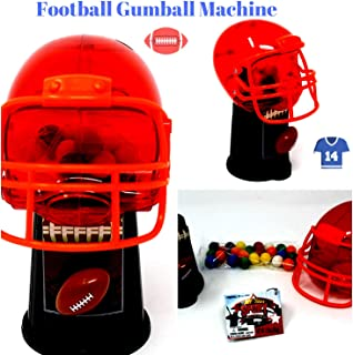 Sports Ball Theme Gumball Machine Dispenser with Gumballs Included (Football)