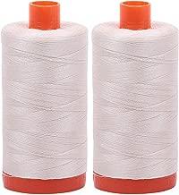 2-Pack - Aurifil 50WT - Silver White (2309) Solid - Mako Cotton Thread - 1422 Yards Each