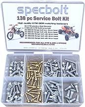 Specbolt Fasteners 138pc Maintenance Restoration OE Spec Motorcycle Bolt Kit fits: KTM SX EX EXC 2 Stroke: 50 60 65 85 105 125 250 300 360 380 550 4 Stroke: 250 350 400 450 500 520 525 530 620 640
