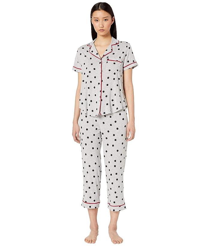 Kate Spade New York Jersey Knit Cropped Pajama Set (Dancing Dot) Women