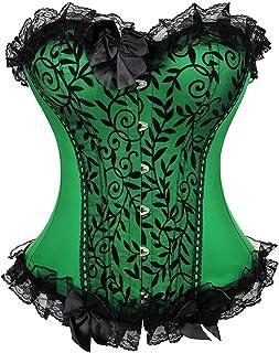Kranchungel Women's Bustier Corset Plus Size Bustier Lingerie Overbust Waist Cincher Shapewear Top