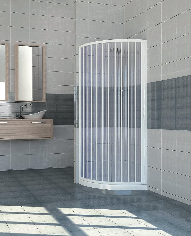 Erweiterbare PVC Dusche Einzeltür 80 90 Runden Seite ffnen