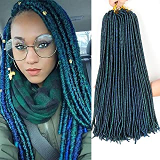 7 Packs 18 Inch 16 Strands/Pack Goddess Faux Locs Crochet Hair Extensions Crochet Braids Hair Extension Dreadlocks Synthetic Ombre Braiding Hair 100g/Pack