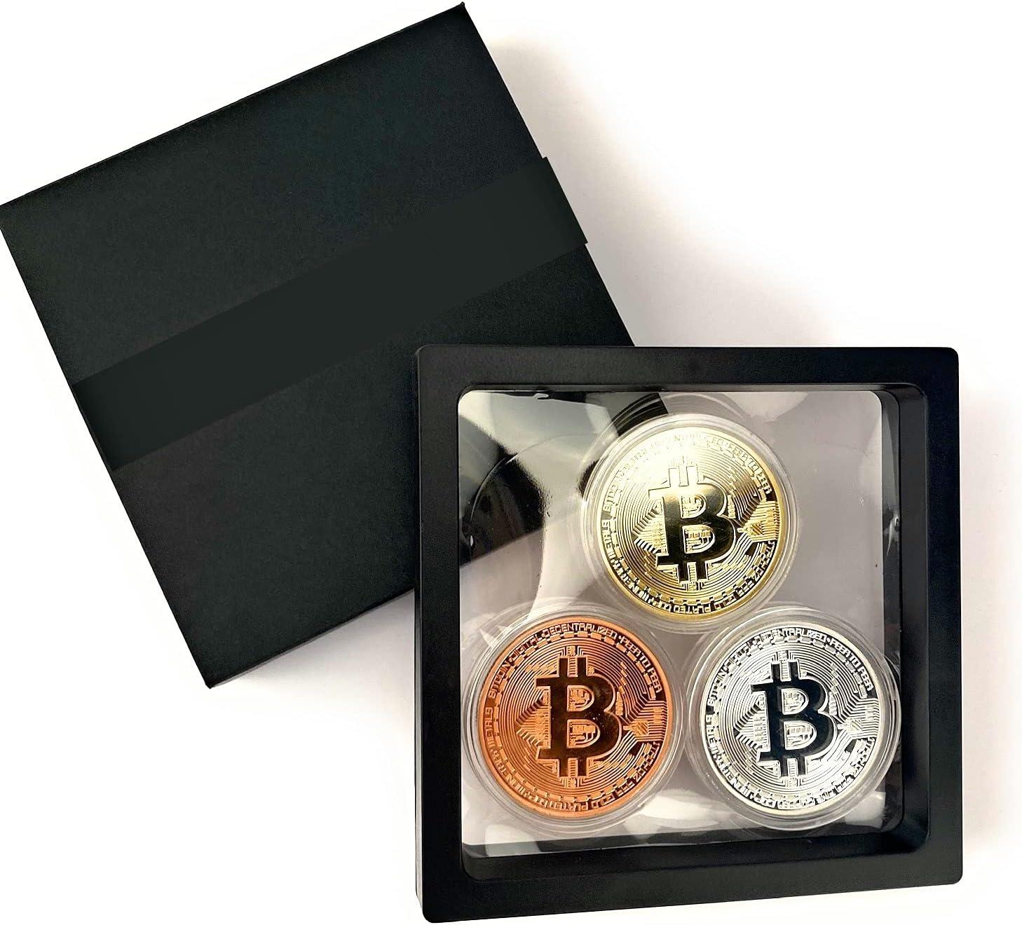 Bitcoin Commemorative Coin 24K supreme Gold and Bronz Silver Plated Rare