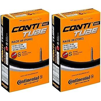 Pack Of 2 Continental Race 28 700 X 20-25C Road Bike Inner Tubes Presta 42Mm