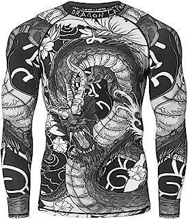 LAFROI Men's Long Sleeve UPF 50+ Baselayer Performance Compression Shirt Rash Guard-CLY08