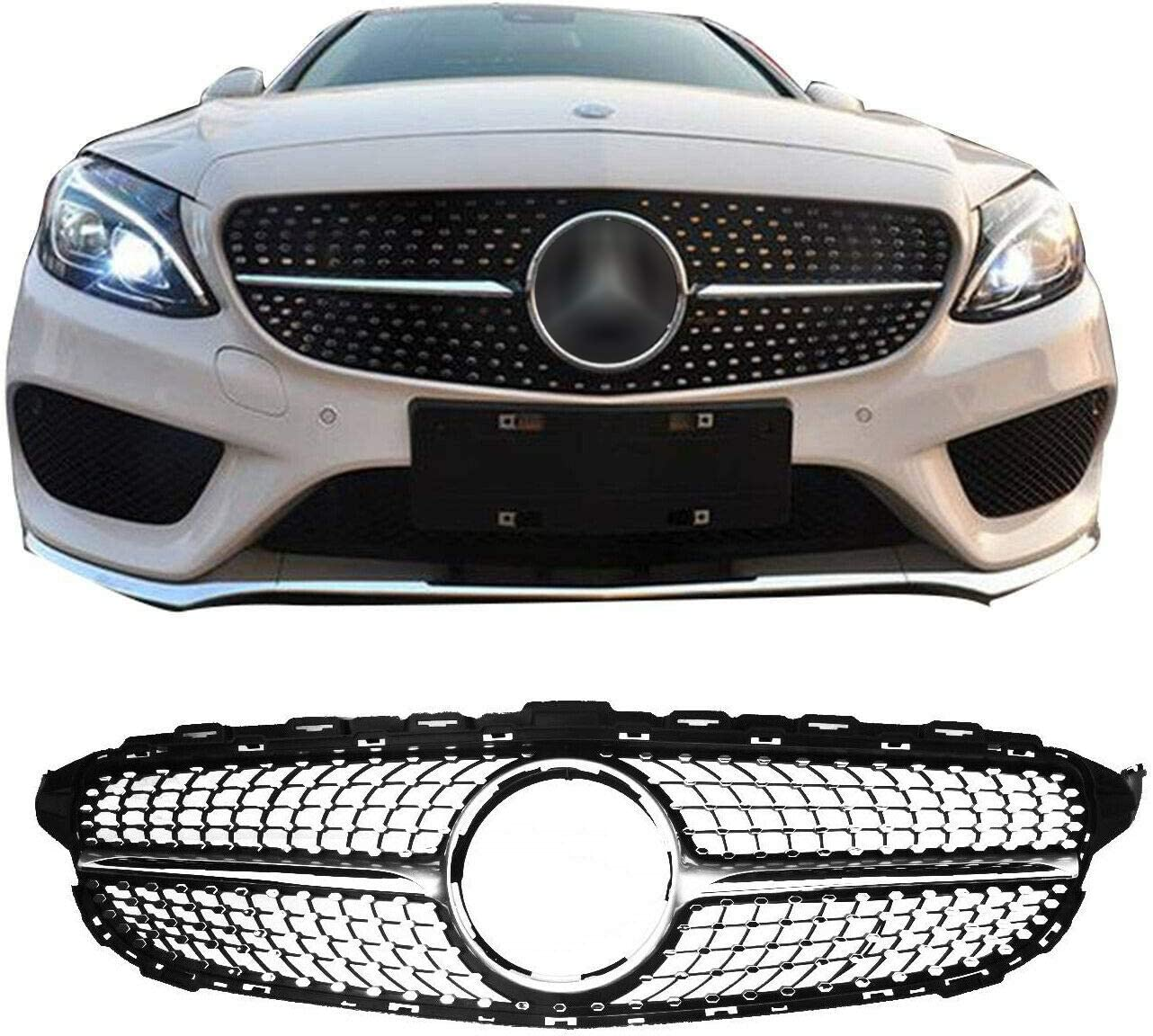 AUTOPA 2058881260 Diamond Radiator Milwaukee Low price Mall for Grille Mercedes Assembly
