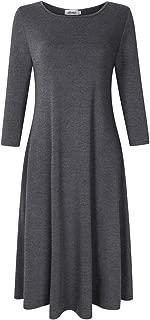 Women's Pullover Pocket Loose Swing Casual Dress