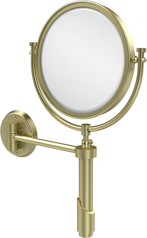 Allied Brass Extendable Wall Mirror 3X Mag Satin Brass