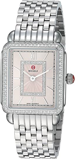 Michele Deco II Mid Blush Diamond Dial Watch