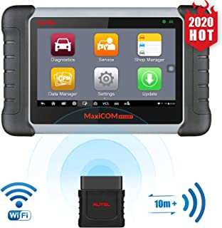 Autel OBD2 Scanner MaxiCOM MK808BT Diagnostic Tool, Upgraded Version of MK808, with MaxiVCI Supports Full System Scan & IM...