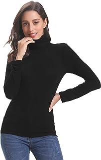 a1200e8266 Abollria Pull Femme Col Roulé sous-Pull Basique Top Femme à Manches Longues  Hauts Chic