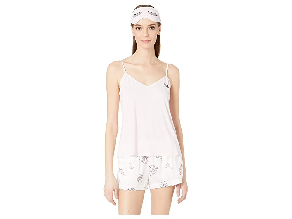 Kate Spade New York Short Pajama Set with Sleepmask (Bridal Toss) Women