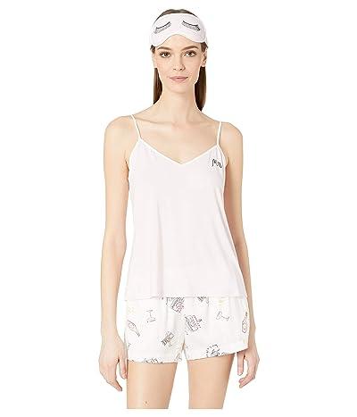 Kate Spade New York Short Pajama Set with Sleepmask (Bridal Toss) Women