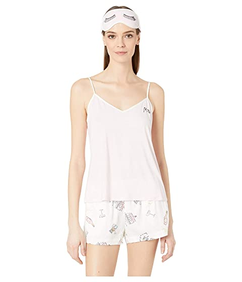 Kate Spade New York Short Pajama Set with Sleepmask