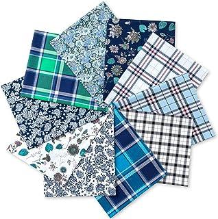 "100% Cotton Fat Quarters Fabric Bundles 18"" x 22"" Inchs (46cmX56cm) 10 Pcs Various Color Fabric for Quilting Patchworking ..."