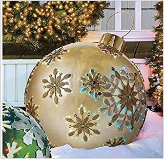 24 Inch Outdoor Christmas PVC Inflatable Decorated Ball, Christmas Inflatables Outdoor Decorations, Giant Christmas Inflat...