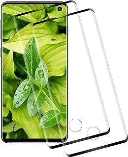 CNXUS Skärmskydd för Samsung Galaxy S10 [2-pack] Samsung Galaxy S10 härdat glas, anti-fingeravtryck, kristallklar bubbelfr...