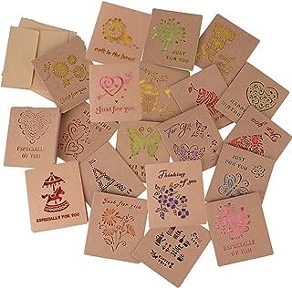 メッセージカード 20枚 グリーティングカード 封筒付 9*8cm おしゃれ バースデーカード 切り抜き 結婚式 誕生日 母の日 (色纸 20枚)