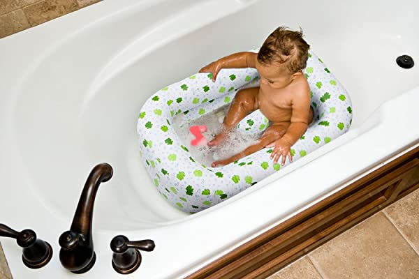 Mommy S Helper Inflatable Bath Tub Froggie Collection White Green 6 24 Months