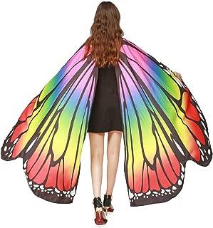 Mariposa Alas de ISIS Accesorio Traje de Baile Naranja M-L-Adult,YiYLunneo Disfraz para Mujer/niños Mariposa alas Chal Hada Cosplay Capa Disfraces