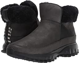 Black Shimmer Leather Waterproof/Black Shearling/Black