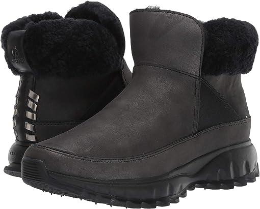 Black Shimmer Leather Waterproof/Black Shearling/Black