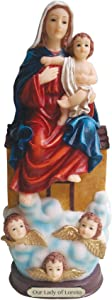 Our Lady of Loreto Statue Lady Sitting on the House (12 Inch)