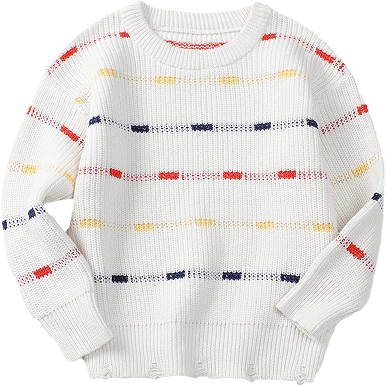 Yiqinyuan Autumn Baby Boys Girls Round Neck Sweaters Sweater Kids Sweaters Knitted Bottoming Boys Sweaters