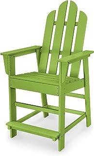 POLYWOOD ECD24LI Long Island Counter Chair, Lime