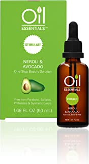 Oil Essentials Stimulate Neroli & Avocado Beauty Solution - Natural Healing Oil for Face, Skin, Hair, and Nails - Free of Parabens, Sulfate, Phthalate, and Synthetic Color 1.69 fl oz (50ml)