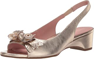 Taryn Rose Women's Slingback Heeled Sandal, PLATINUM, 7