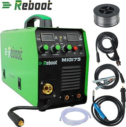 Soldador MIG REBOOT MIG175 de gas y sin gas DC 220 V Inverter dispositivo de soldadura