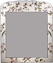 Vriksh Of Life Hand Painted Mirror for Console Silver Leaf Design