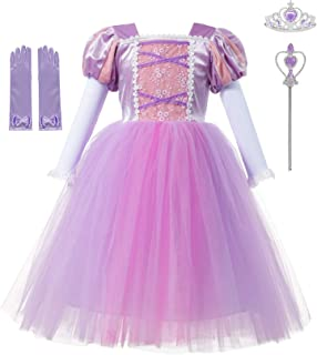 Girls Princess Dresses Costume Long Sleeve Tulle Dress up for Halloween Cosplay