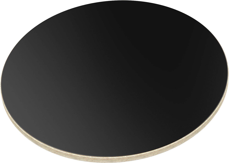 AUPROTEC Tischplatte 18mm rund /Ø 200 mm blau Multiplexplatte melaminbeschichtet von 20cm-120cm ausw/ählbar runde Sperrholz-Platten Massiv Multiplex Holz Industriequalit/ät