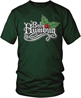 Men's Bah Humbug, Funny Anti Christmas Scrooge T-Shirt