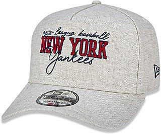 BONE 9FORTY A-FRAME MLB NEW YORK YANKEES COLLEGE HANDWRITING ABA CURVA SNAPBACK OFF WHITE New Era