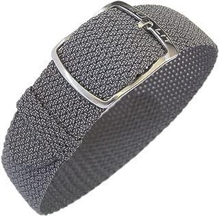 Kristall 18mm Grey Perlon Watch Strap
