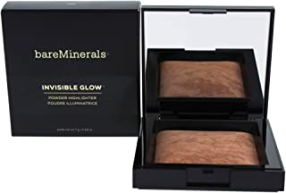 bareMinerals Invisible Glow Powder Highlighter Tan for Women, 0.24 Ounce