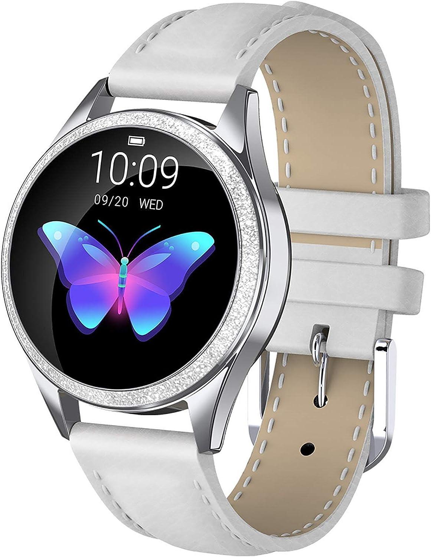 Reloj Inteligente Mujer, Reloj Inteligente Fitness Tracker con IP68 Impermeable/Herramienta de período Femenino/SMS Llamada NOTIFICACIÓN/Monitor de Ritmo Cardíaco del Sueño Adecuado Para Android / iOS