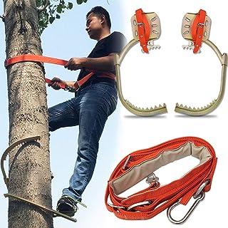 GBHJJ Trädklättring artefakt, rostfritt stål träd klättring halkfria kramponger, skogstillbehör, övervakning av jakt, fruk...