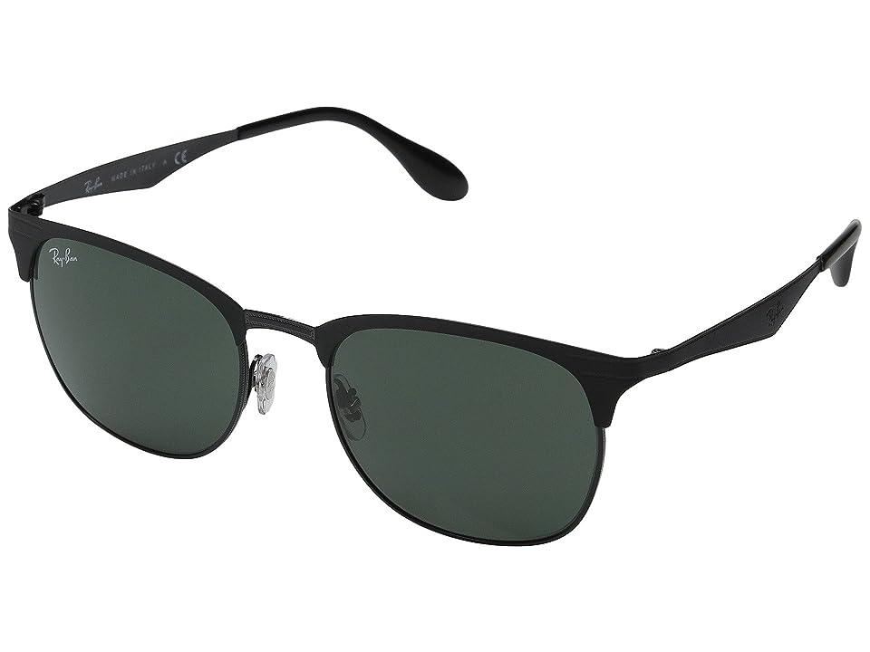 Ray-Ban RB3538 53mm (Top Matte Black on Shiny Black Frame/Dark Green Lens) Fashion Sunglasses