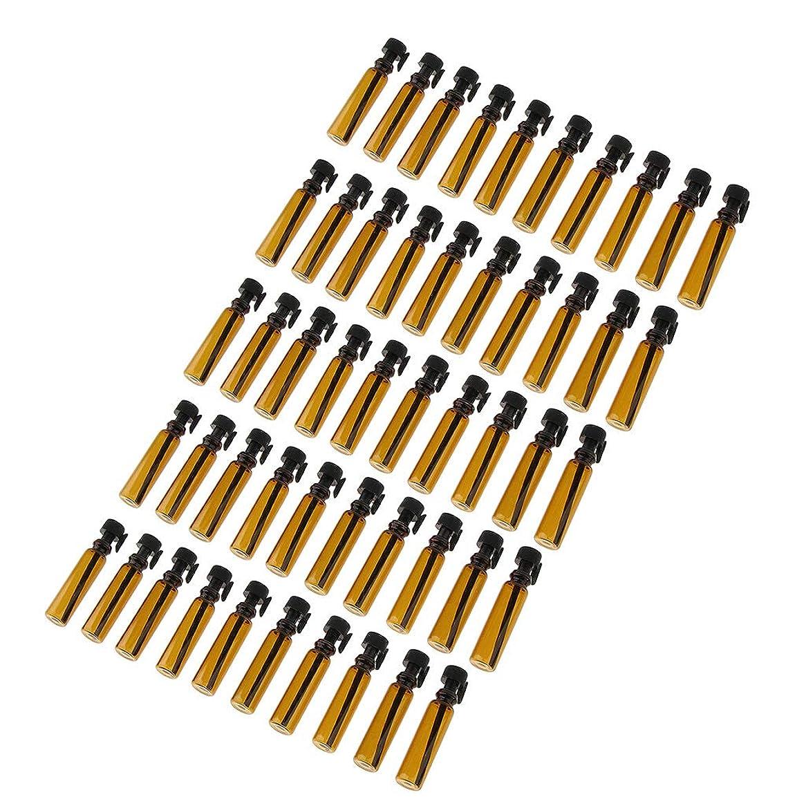 選出するドリンク洋服CUTICATE 約50個 サンプルボトル メイクアップボトル アンバーガラスびん 1mL