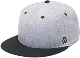 7a067305950cc Riorex Flat Visor Snapback hat Blank Cap Baseball Cap for Men Adjustable-5  Colors