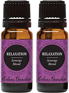 Edens Garden Relaxation Essential Oil Synergy Blend, 100% Pure Therapeutic Grade (Aromatherapy Oils- Anxiety & Stress), 10...