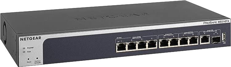 NETGEAR 10-Port Multi-Gigabit/10G Smart Managed Pro Switch (MS510TX) - with 1 x 10G SFP+, Desktop/Rackmount, and ProSAFE Limited Lifetime Protection